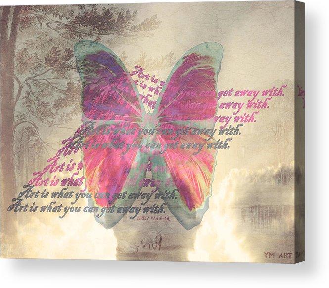 Butterfly Acrylic Print featuring the digital art Art Is ..... by Yvon van der Wijk