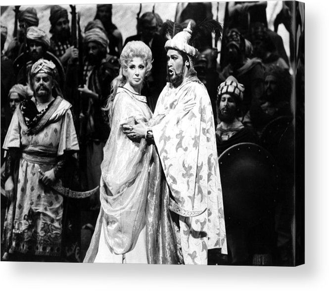1970s Acrylic Print featuring the photograph Beverly Sills, Justino Diaz Performing by Everett