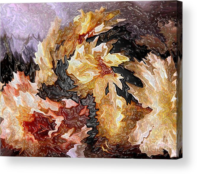 Abstract Acrylic Print featuring the painting Bouquet by P Russell