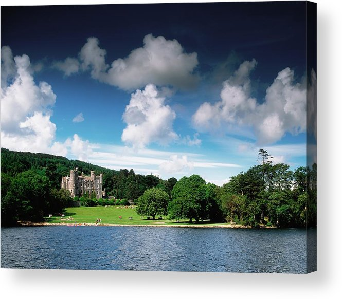 Field Acrylic Print featuring the photograph Castlewellan Castle & Lake, Co Down by The Irish Image Collection