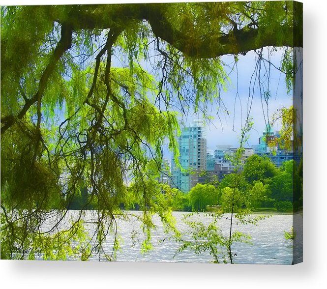 Lost Lagoon Acrylic Print featuring the photograph Coal Harbour Peek by Diana Cox