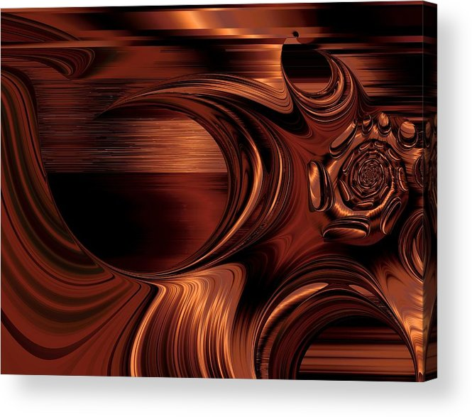 Digital Art Fractal Art Abstract Modern Unique Prints Posters Greeting Cards Acrylic Print featuring the mixed media Dawn Of A New Age by Connie Dye