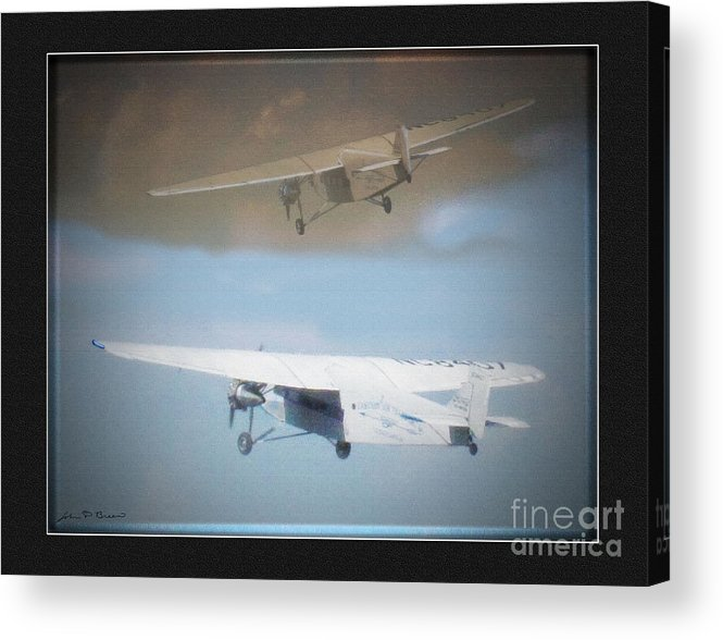 Ford Trimotor Acrylic Print featuring the painting Ford Trimotor by John Breen