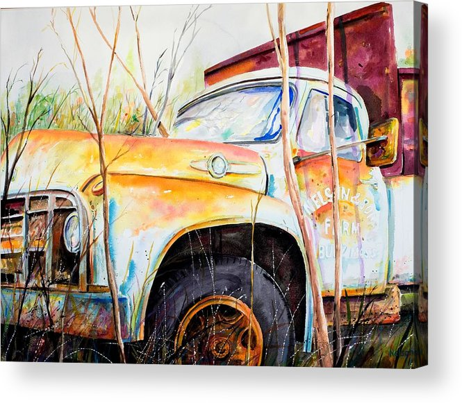 Truck Acrylic Print featuring the painting Forgotten Truck by Scott Nelson