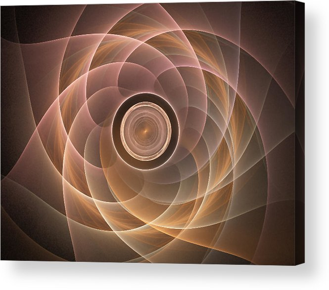Fractal Acrylic Print featuring the digital art Lotus by Jennifer Gelinas