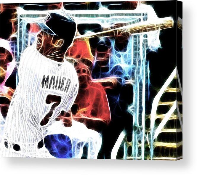 Minnesota Twins Acrylic Print featuring the digital art Magical Joe Mauer by Paul Van Scott