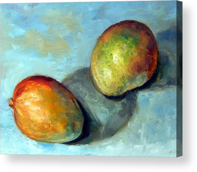 Oil Painting Acrylic Print featuring the painting Mango's by Mark Hartung
