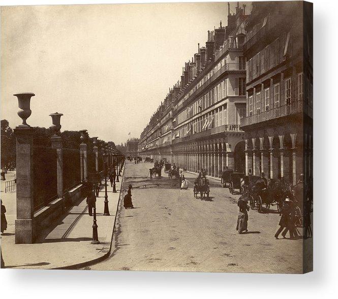 1900 Acrylic Print featuring the photograph Paris: Rue De Rivoli, C1900 by Granger