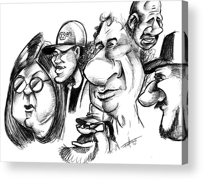 Caricature Acrylic Print featuring the drawing Pip-obji by Big Mike Roate