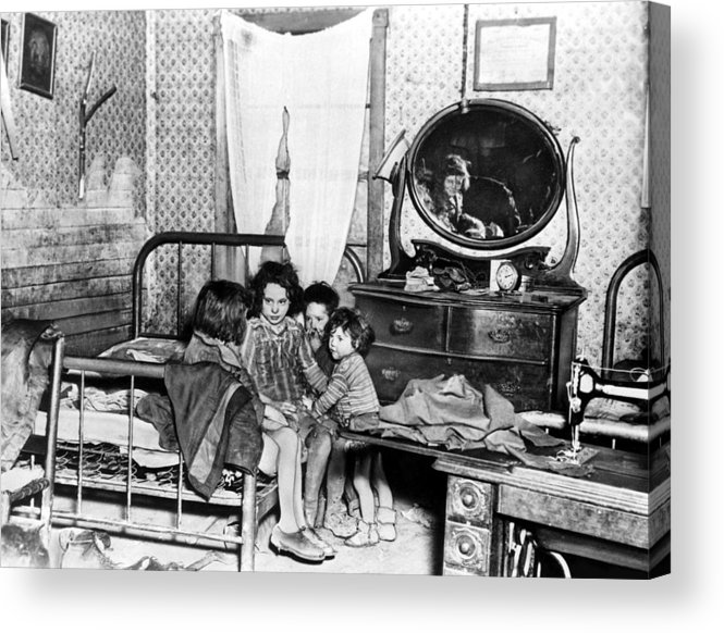 1920s Acrylic Print featuring the photograph Poverty Stricken Children In A Rural by Everett