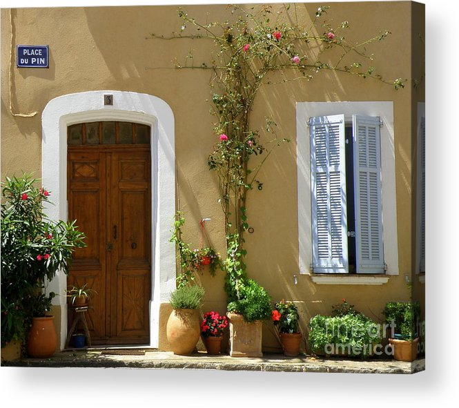 Provence Acrylic Print featuring the photograph Provence Door 3 by Lainie Wrightson