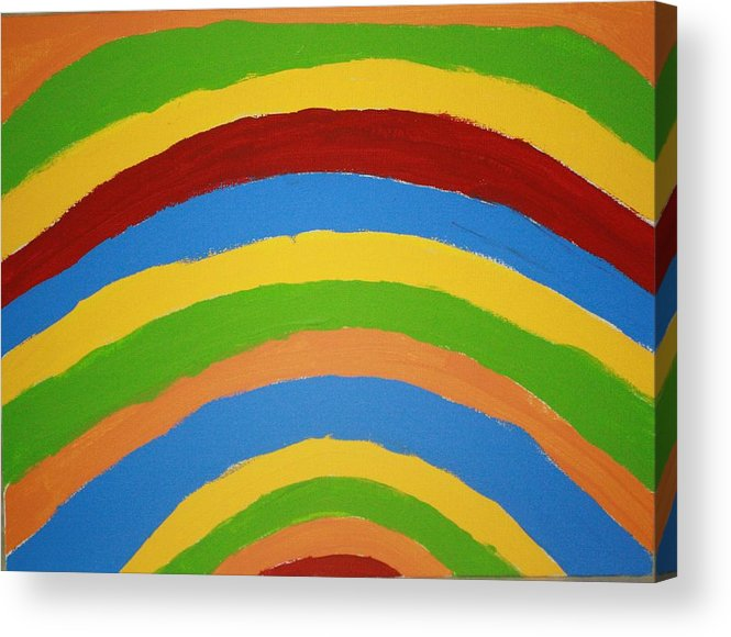 Minch Acrylic Print featuring the painting Rainbow by Deborah Minch