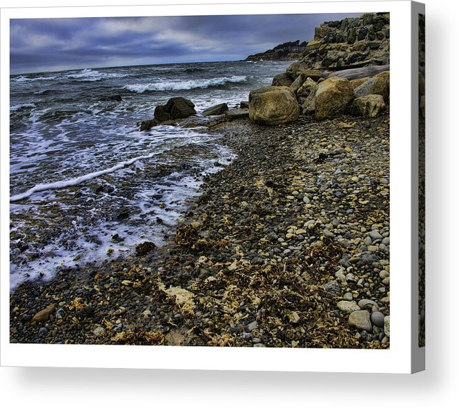 Acrylic Print featuring the photograph Rock Beach by David Theroff