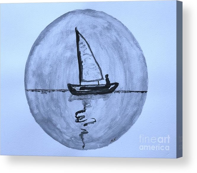 Painting Acrylic Print featuring the painting Sailing Thru The Night by Marsha Heiken