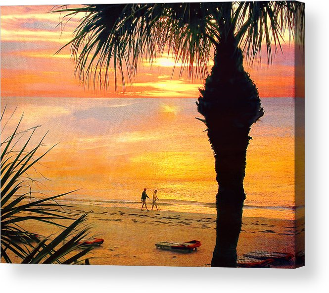 Sunset Acrylic Print featuring the photograph Sunset Stroll by Stephen Warren