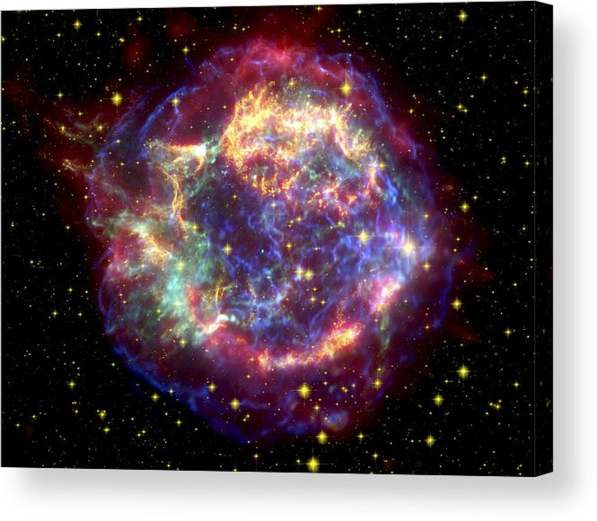 Stars Acrylic Print featuring the photograph The Many Sides Of The Supernova Remnant by Nasa