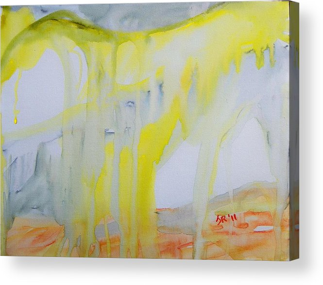 Abstract Acrylic Print featuring the painting Vast Storm On The Mesa by Judith Redman