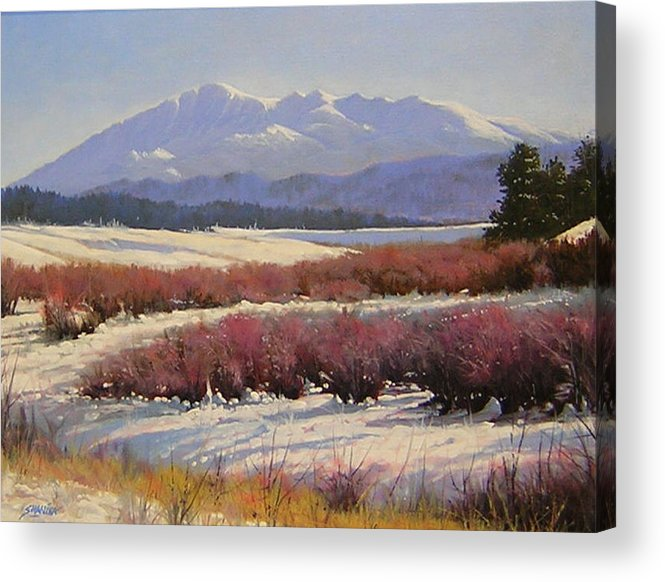 Landscape Acrylic Print featuring the painting 051209-1814 Pikes Peak - North View by Kenneth Shanika