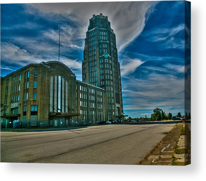 Railroad Terminals Acrylic Print featuring the photograph Buffalo Central Terminal by Jim Markiewicz