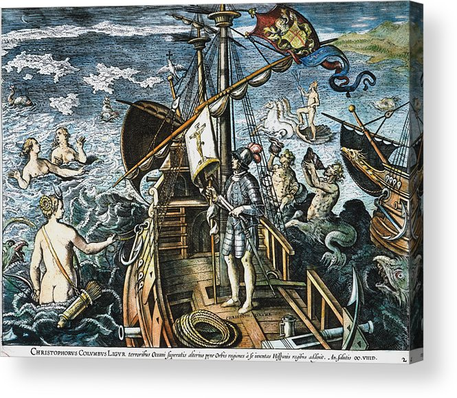 15th Century Acrylic Print featuring the photograph Christopher Columbus by Granger