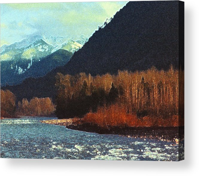 Landscape Acrylic Print featuring the photograph On The Squamish River 2223 by Lyle Crump