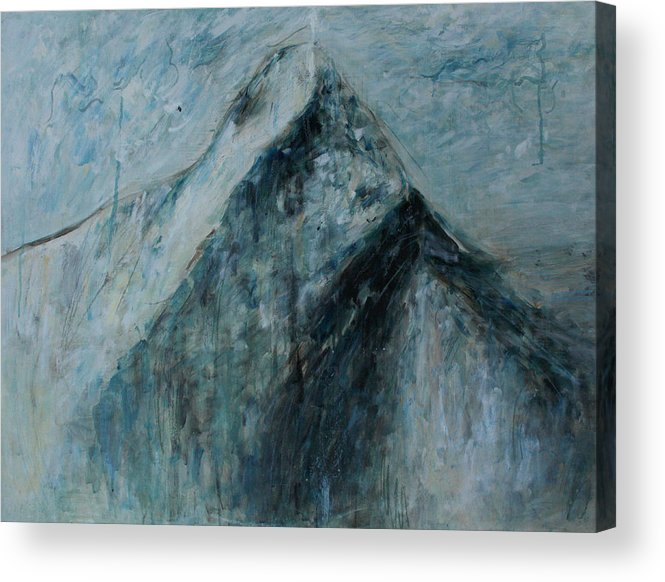 Painting Acrylic Print featuring the painting Sacred Mountain by Alexander Carletti