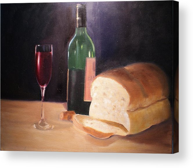 Wine Acrylic Print featuring the painting Untitled by Toni Berry