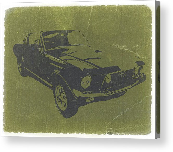 1968 Ford Mustang Acrylic Print featuring the photograph 1968 Ford Mustang by Naxart Studio