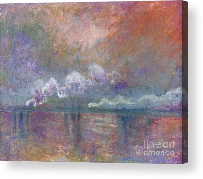 Charing Cross Bridge Acrylic Print featuring the painting Charing Cross Bridge by Claude Monet