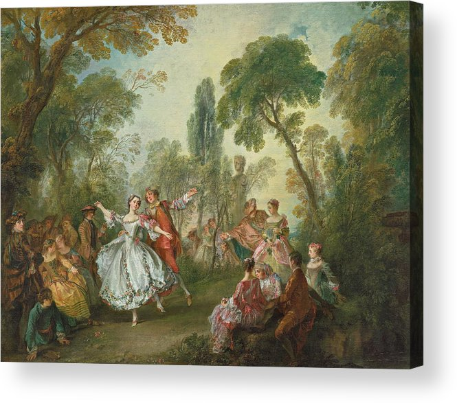Young Acrylic Print featuring the painting La Camargo Dancing by Nicolas Lancret