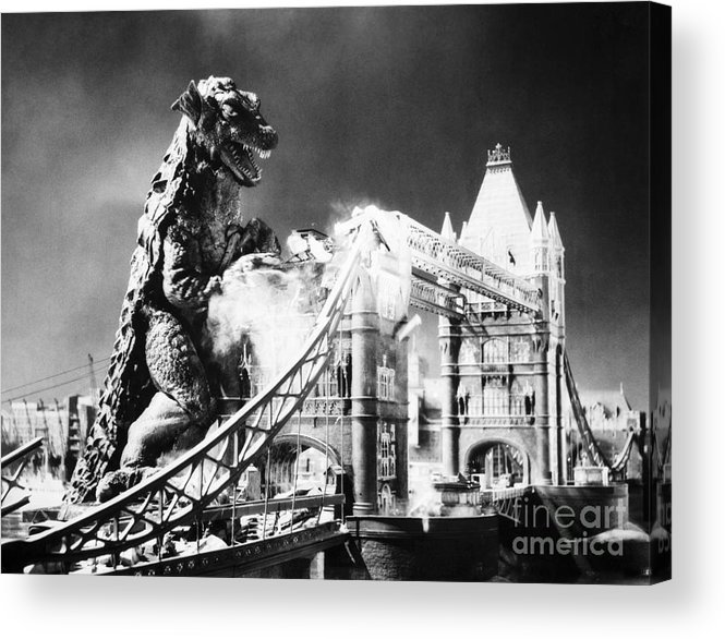 20th Century Acrylic Print featuring the photograph Godzilla by Granger