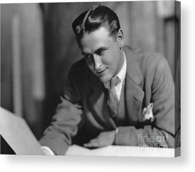 1925 Acrylic Print featuring the photograph F. Scott Fitzgerald by Granger