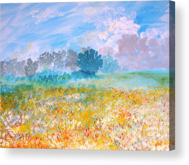 New Artist Acrylic Print featuring the painting A Golden Afternoon by J Bauer