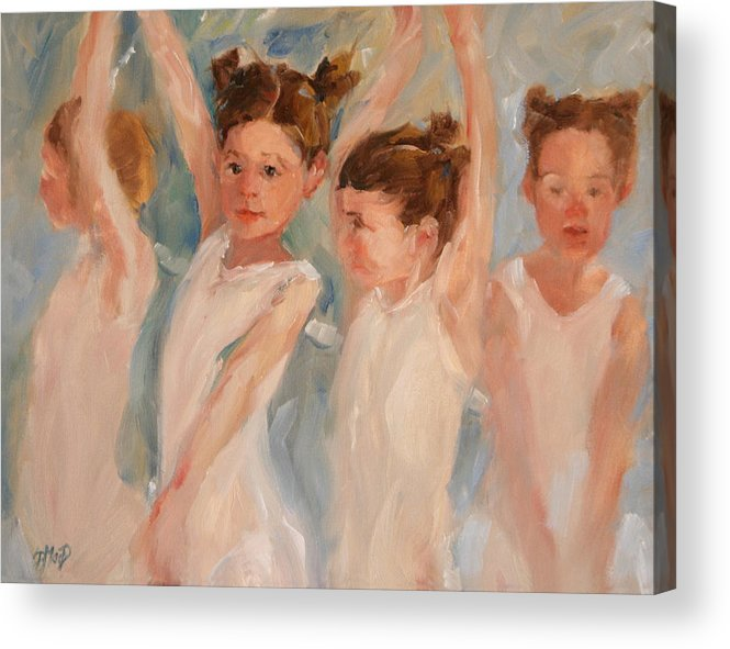 Children Acrylic Print featuring the painting A Little Degas by Donna MacDonald
