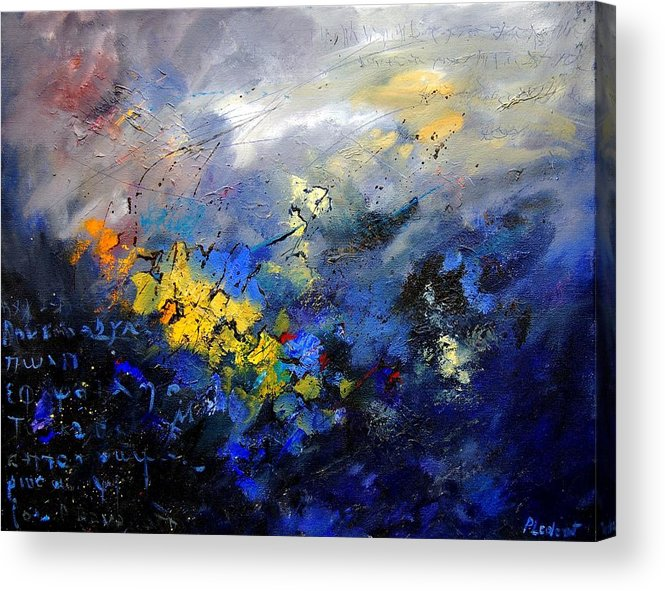 Abstract Acrylic Print featuring the painting Abstract 970208 by Pol Ledent