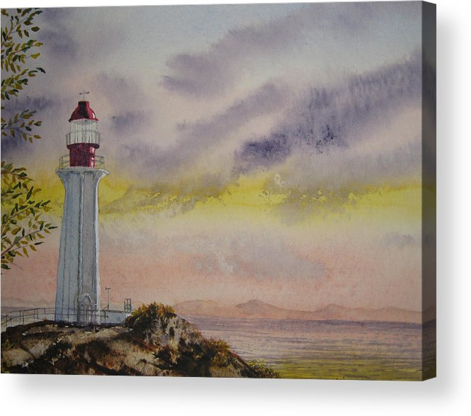 Landscape Acrylic Print featuring the painting All Is Well by Shirley Braithwaite Hunt