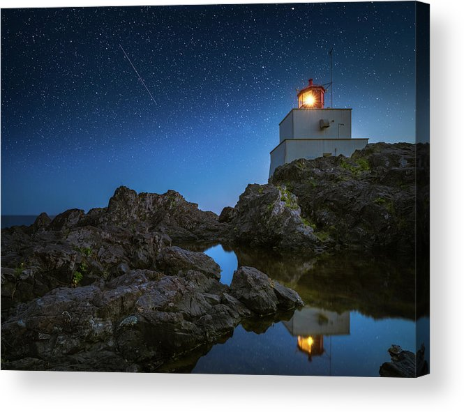 America Acrylic Print featuring the photograph Amphitrite Point Lighthouse by William Freebilly photography