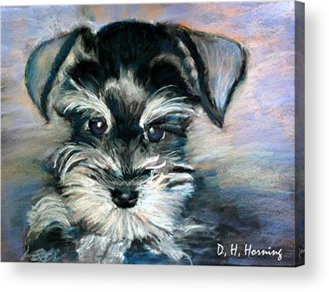 Portrait Acrylic Print featuring the painting Annabelle by David Horning