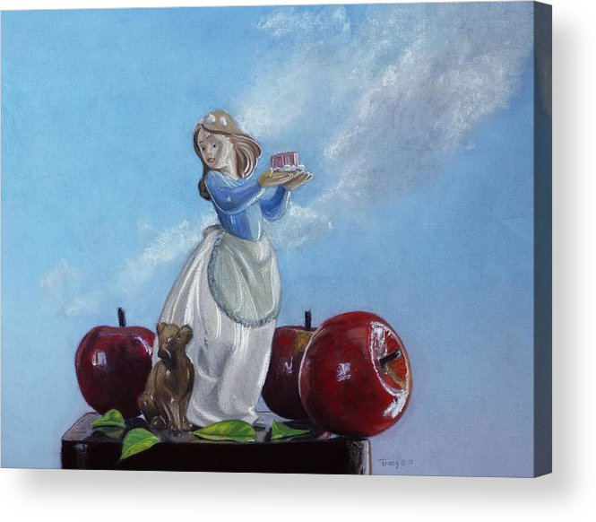 Apples With Figurine Acrylic Print featuring the painting Apples With Figurine by Robert Tracy