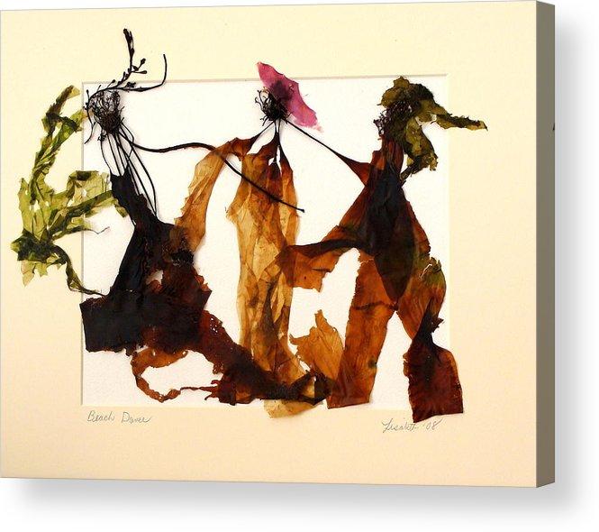 Feet Acrylic Print featuring the mixed media Beach Dance by Lisabeth Billingsley