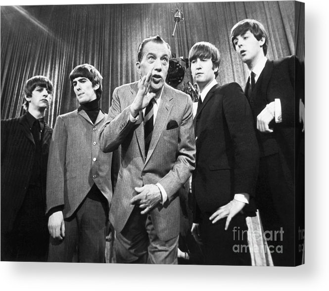 1964 Acrylic Print featuring the photograph Beatles And Ed Sullivan by Granger