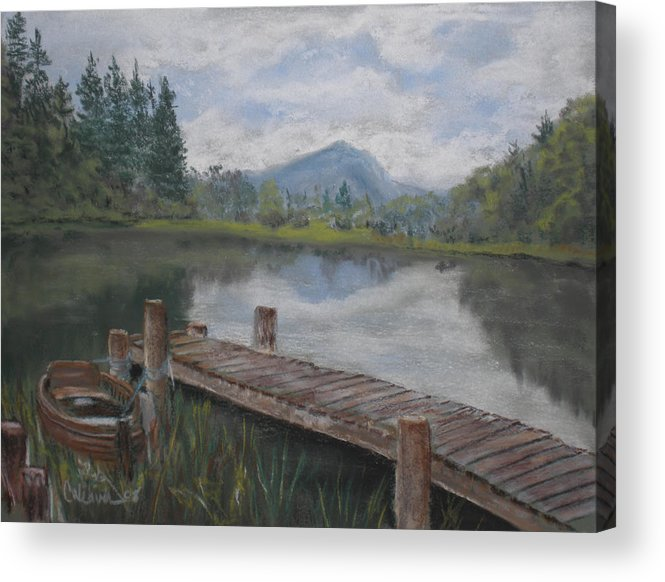 Landscape Acrylic Print featuring the painting Ben Lomond by Cathy Weaver