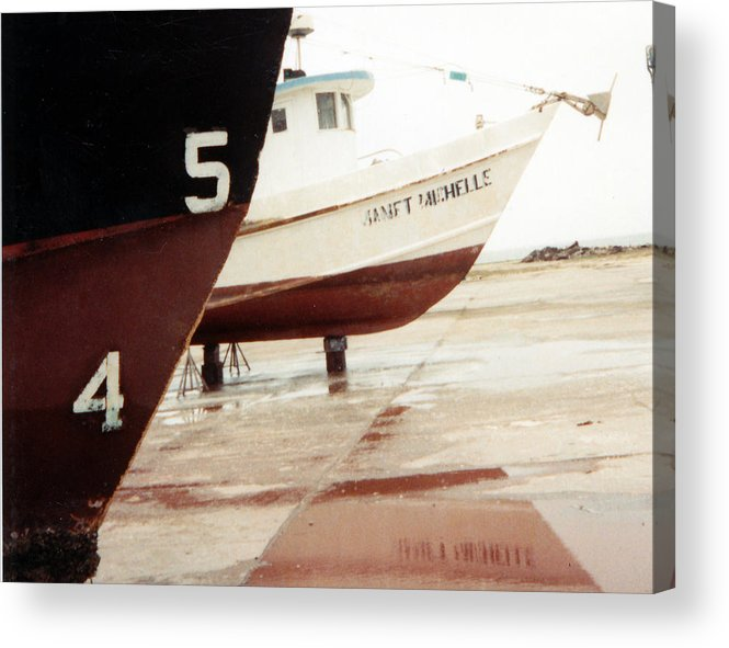 Boat Reflection Acrylic Print featuring the photograph Boat Reflection 2 by Cindy New