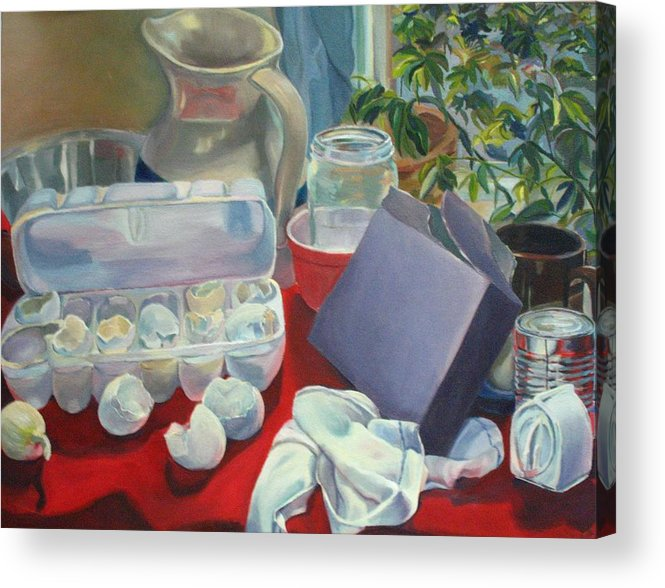Still Life Acrylic Print featuring the painting Breakfast Tablescape by Stephanie Allison