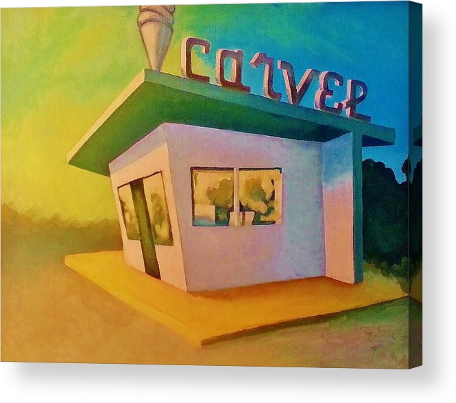 Acrylic Print featuring the painting Carvel by Jay Goldklang