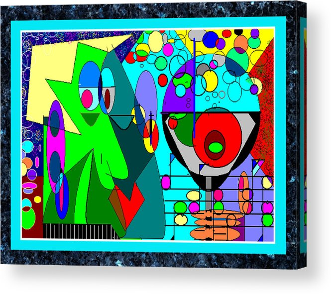 Music Acrylic Print featuring the digital art Cheers by George Pasini