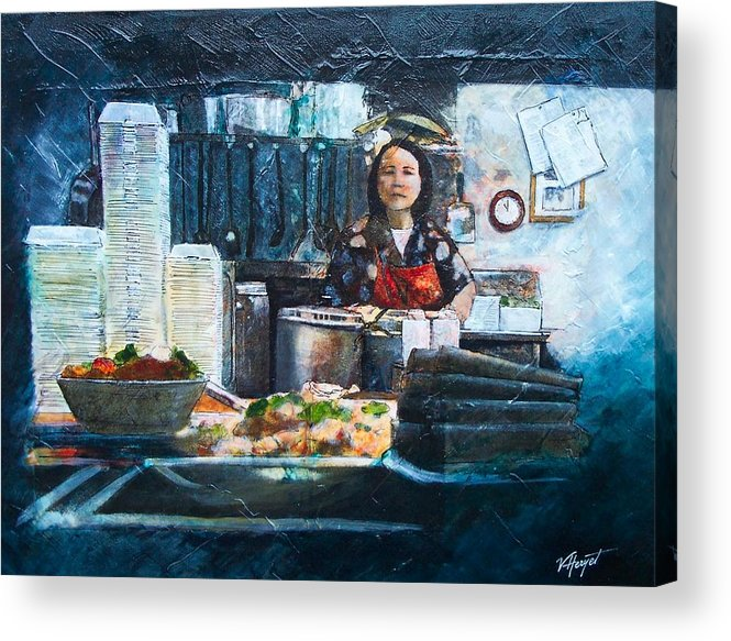 Chinese Acrylic Print featuring the painting China Kitchen by Victoria Heryet