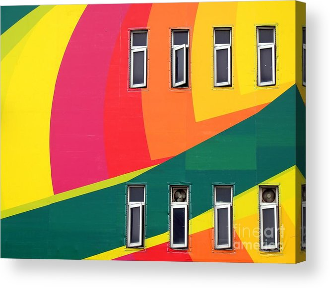 Colorful Acrylic Print featuring the photograph Colorful Wall by Yali Shi