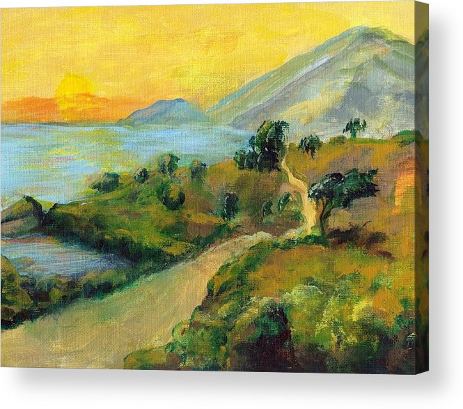 Sea Acrylic Print featuring the painting Costa Rica Sunset by Randy Sprout