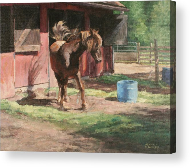 Horse Acrylic Print featuring the painting Dancing Horse by Robert Tutsky